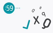 desenho de letras com diferentes rotações