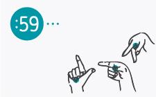 desenho de mãos com dedos em diferentes posições a formar as letras LGP