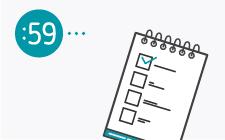 desenho de bloco com uma checklist