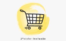 desenho de cesto de compras