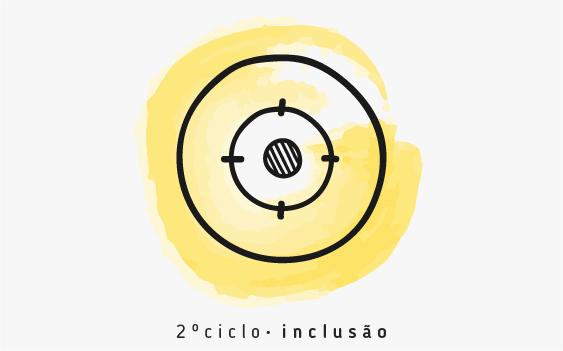 desenho de mira (3 círculos concêntricos)